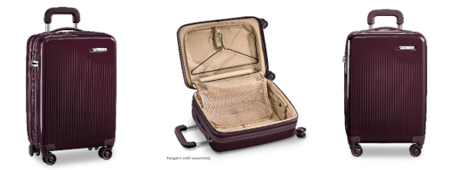 travel accessories Briggs and Riley Sympatico Plum Carry-On Case
