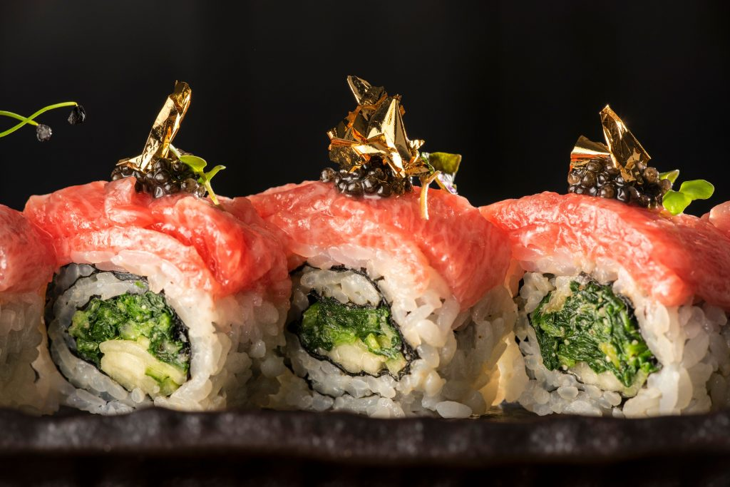 Steak and sushi at Hot Stone London