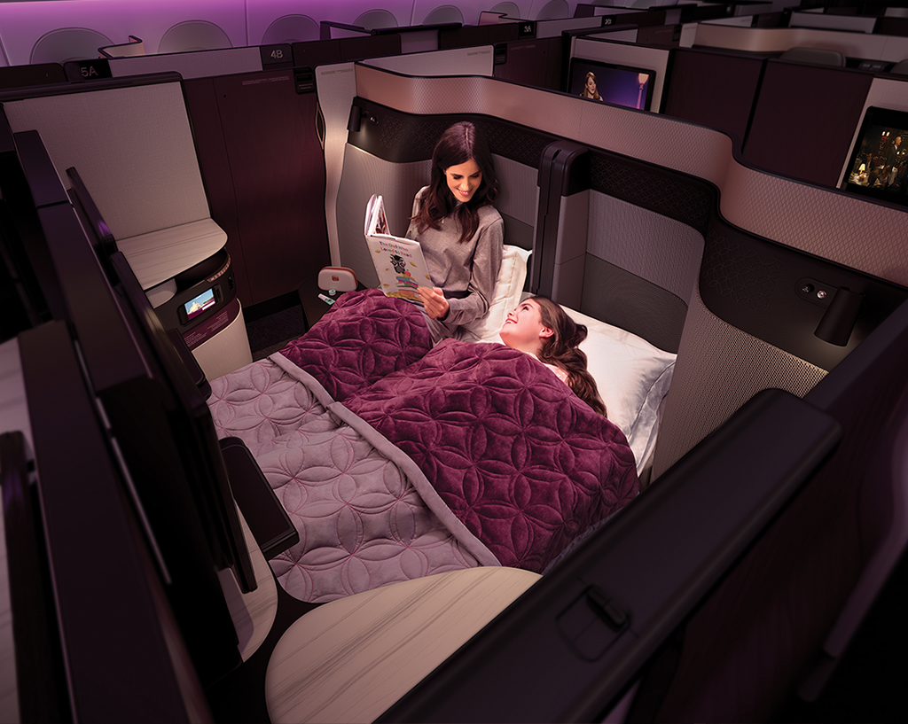The Qsuite Experience On board Qatar Airways