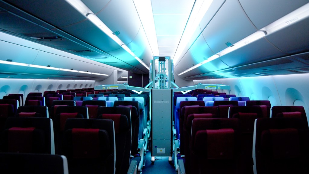 Honeywell's state-of-the-art Ultraviolet Cabin System in action