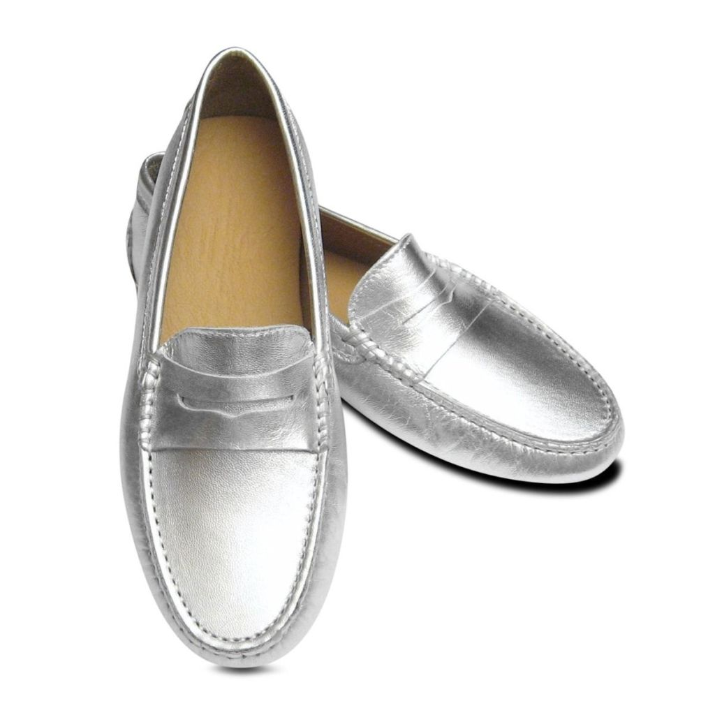 Arthur Knight Silver Metallic Driving Shoes - Luxuriate Life Magazine by Mark Captain