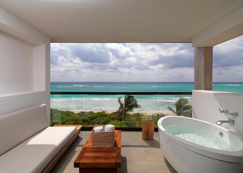 UNICO 20°N 87°W Hotel Luxuy balcony with sea view - Luxuriate Life Magazine by Mark Captain