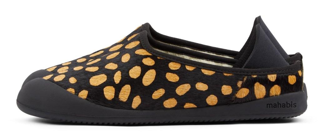Mahabis Curve animal print slippers