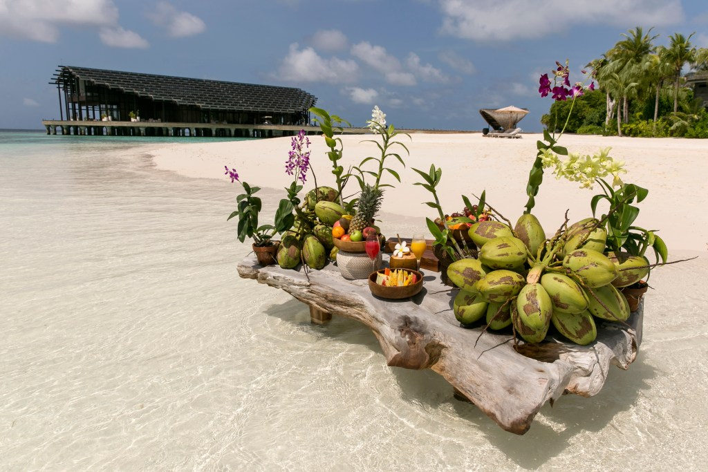 Kudadoo Private Island Fully-inclusive clean beach fruits - by Mark Captain, Luxuriate Life, Luxury Magazine UK