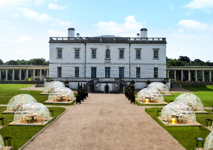 Dining Domes at Queen's House, Greenwich - by Mark Captain Luxuriate Life Magazine, Luxury Magazine UK