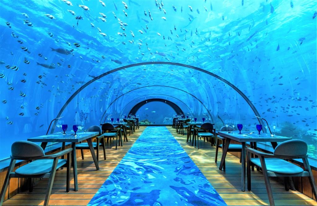 Hurawalhi Island luxury Maldives resort for adults 5.8 Undersea Restaurant - Luxuriate Life Magazine