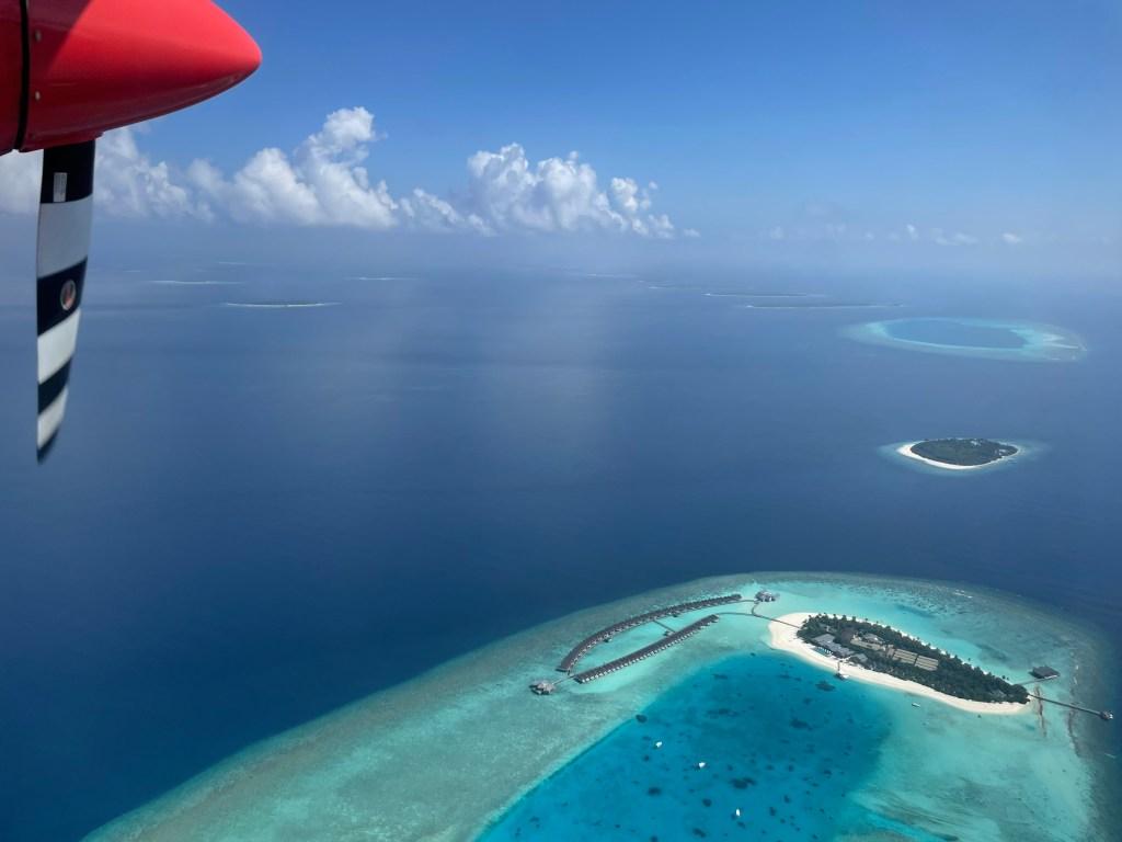 Hurawalhi Island Seaplane views - Luxuriate Life Magazine by Mark Captain