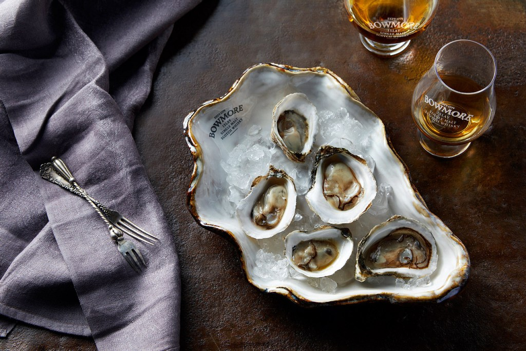 Bowmore oyster at Al Fresco opening - by Mark Captain, Luxuriate Life, Luxury Magazine UK