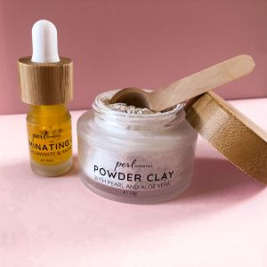 PERLcosmetics Pearl Powder Pink Clay Mask & Illuminating Oil - Luxuriate Life Magazine by Mark Captain
