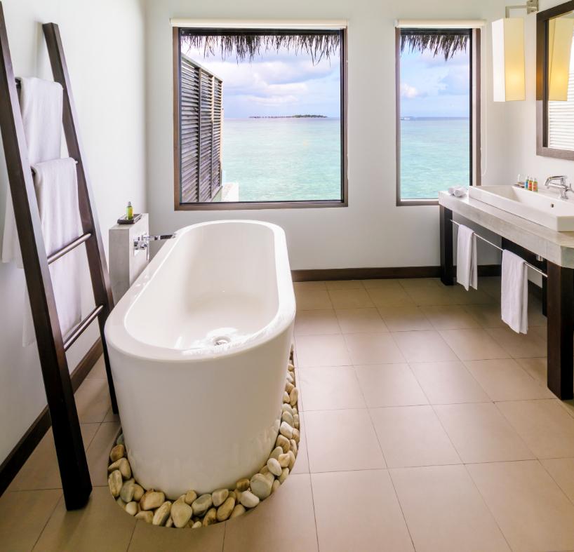 Velassaru Water Bungalow, Luxury Bathroom - Luxuriate Life Magazine, a UK Luxury Magazine